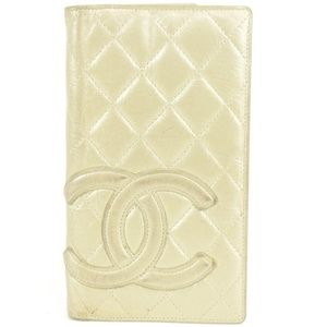 Chanel Quilted Cambon CC Gold Yen Lambskin Flap